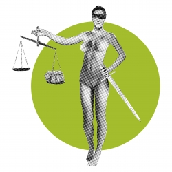 Lady Justice Circle - Halftone